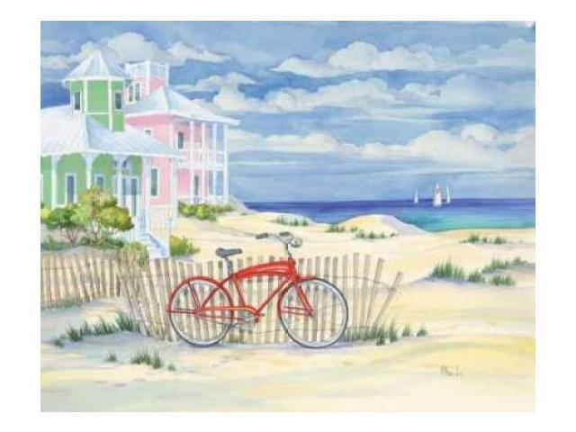 Beach Cruiser Cottage I Poster Print by Paul Brent (8 x 10)