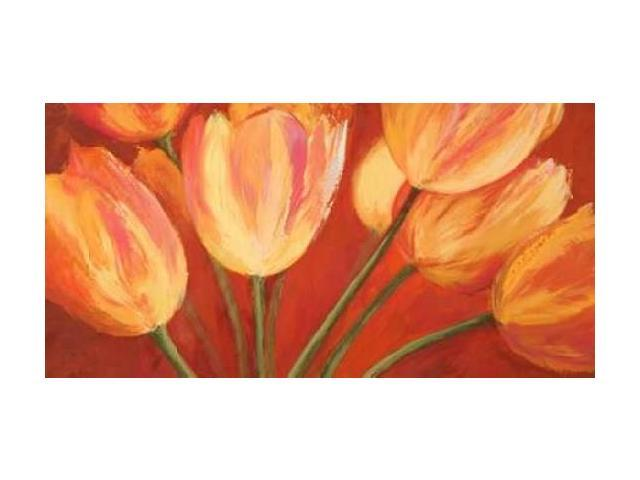 Orange Tulips Poster Print by Silvia Mei (10 x 20)