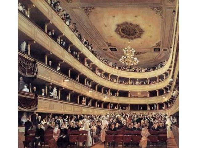 Auditorium Of The Old Burgtheater 1888 Poster Print by Gustav Klimt (24 x 24)