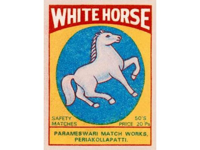 White Horse Matches Poster Print by  Phillumenart (18 x 24)