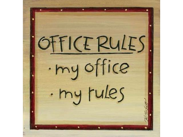 Office Rules Poster Print by Karen Tribbet (24 x 24)
