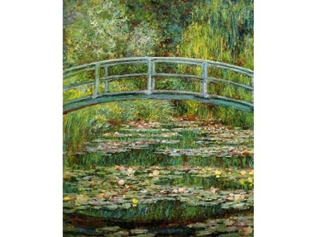 Japanese Bridge And Water Lilies - 1 Poster Print by  Claude Monet  (8 x 10)