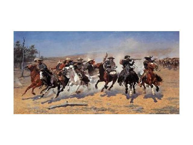 A Dash For Timber Poster Print by Frederic Remington (24 x 48)