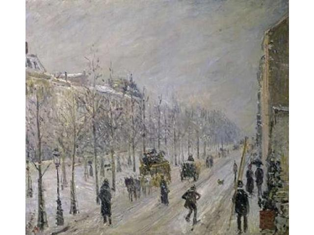 The Effect of Snow on the Boulevards Appearance Poster Print by  Camille Pissarro  (12 x 12)