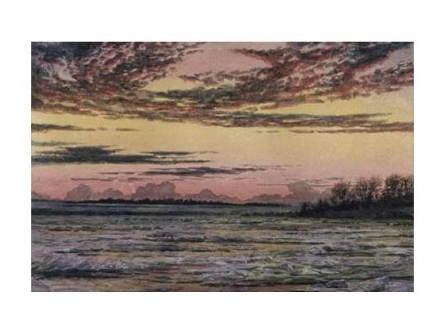 Sunset Over the Ice Poster Print by Frederic E. Church (24 x 36)