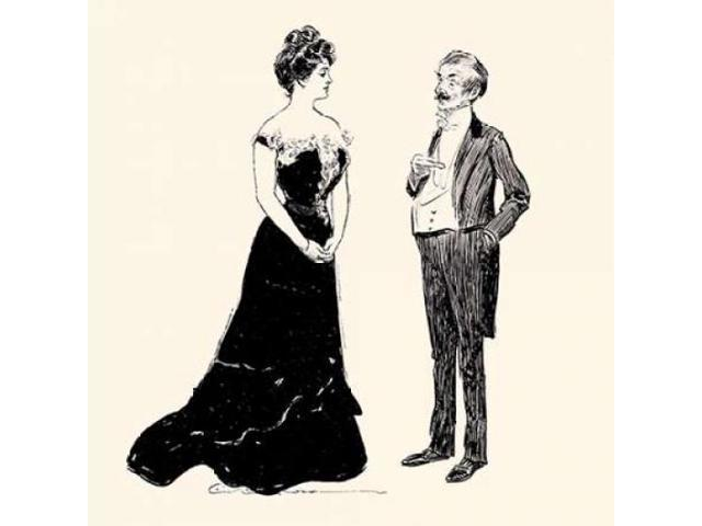 Yes Dearest Poster Print by Charles Dana Gibson (24 x 24)