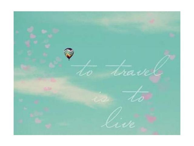 To Travel Border Poster Print by Lisa Hill Saghini (9 x 12)