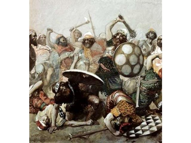 Joshua Destroys The Giants Poster Print by James Jacques Tissot (24 x 24)