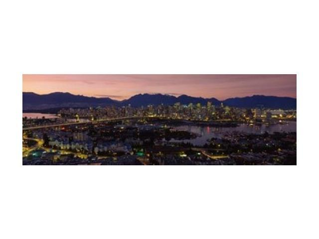 Vancouver at Dusk, British Columbia, Canada Poster Print by Panoramic Images (36 x 12)