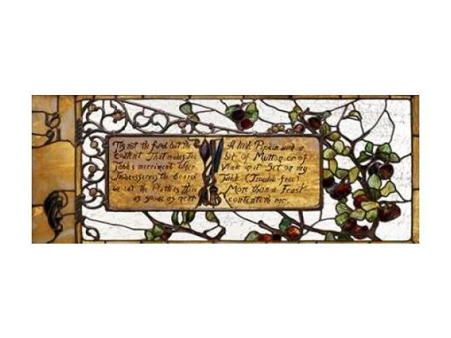 Enameled Favrile Glass Window Poster Print by  Tiffany Studios (24 x 48)