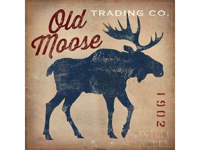 Old Moose Trading Co - Tan Poster Print by Ryan Fowler (12 x 12)