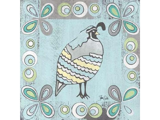 Quail II Poster Print by Shanni Welsh (24 x 24)