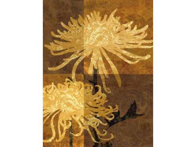 Golden Mums II Poster Print by Keith Mallett (9 x 12)