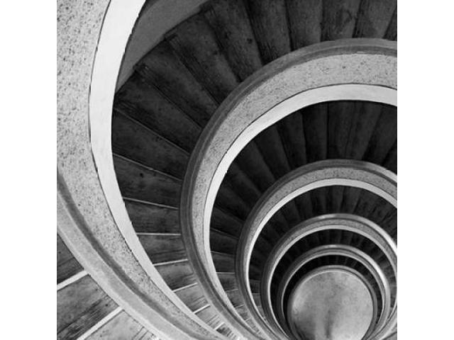 Spiral Staircase No 6 Poster Print by  PhotoINC Studio (12 x 12)