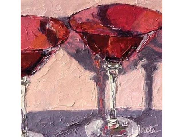 Cranberry Glass Poster Print by Leslie Seata (12 x 12)