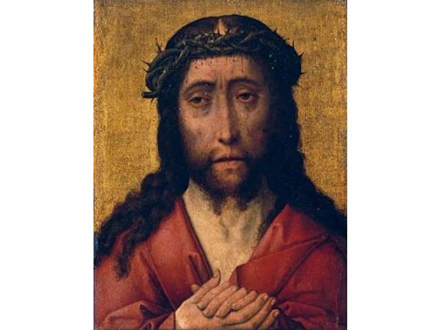 Christ The Man of Sorrows Poster Print by Aelbrecht Bouts (22 x 28)