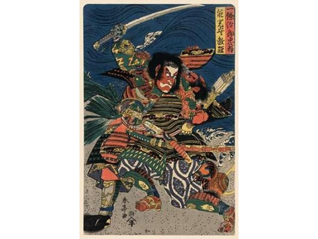 Great Samurai in Battle 1850 Poster Print by Unknown  (12 x 18)