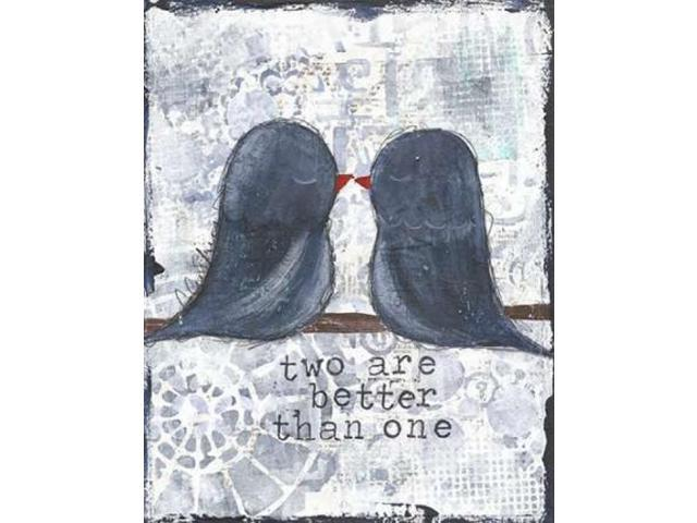 Two are Better Poster Print by Cassandra Cushman (11 x 14)