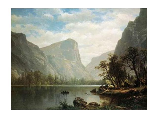 Mirror Lake Yosemite Valley Poster Print by Albert Bierstadt (18 x 24)