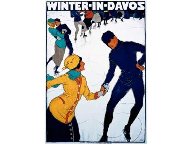 Winter in Davos Poster Print by  Burkhard Mangold  (10 x 14)