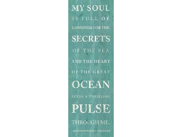 Secrets of the Sea Poster Print by Sd Graphics Studio (12 x 36)