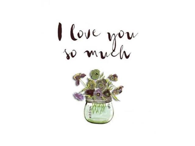 I Love You So Much Poster Print by Tara Moss (11 x 14)