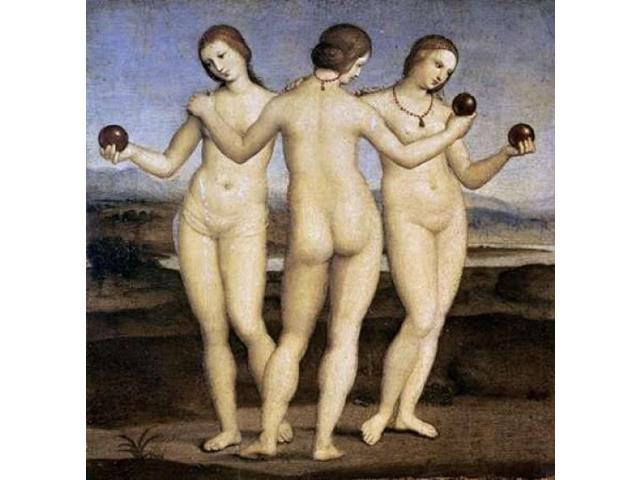 The Three Graces Poster Print by Raphael  (12 x 12)