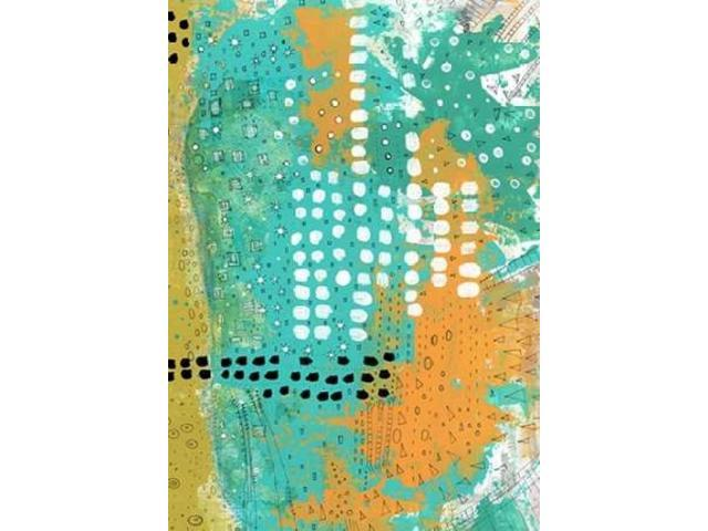 Orange and Green Abstract Poster Print by Sarah Ogren (10 x 14)