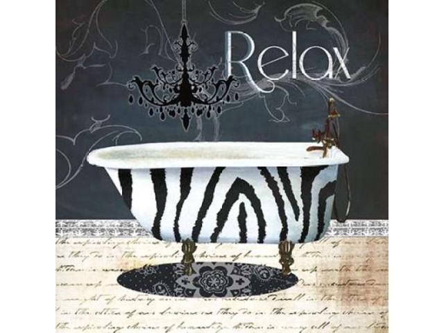 Relax Poster Print by Carol Robinson (12 x 12)