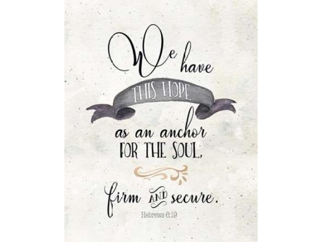 Hebrews 6:19 Poster Print by Tara Moss (24 x 30)