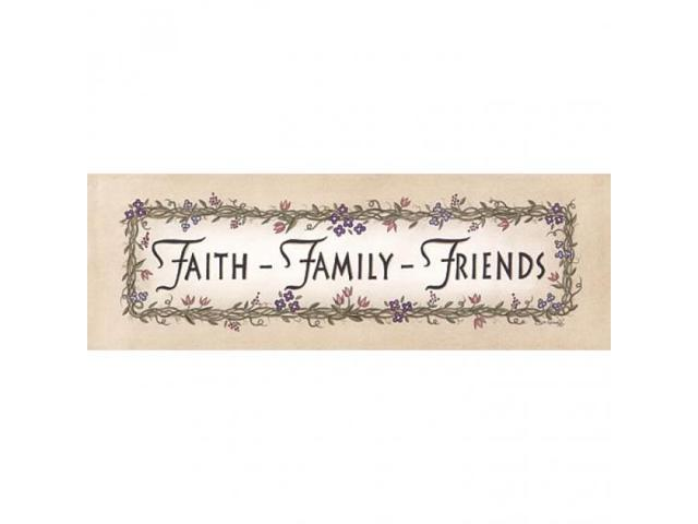 Faith-Family-Friends Poster Print by Linda Spivey (18 x 6)