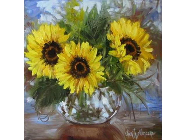 Sunflowers V Poster Print by Cheri Wollenberg (24 x 24)