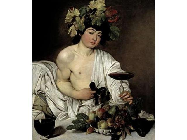 Bacchus Poster Print by Caravaggio  (12 x 12)