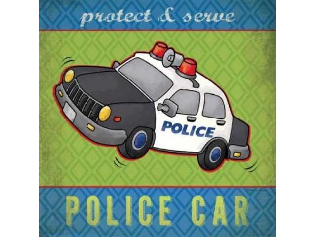 Police Poster Print by Stephanie Marrott (12 x 12)