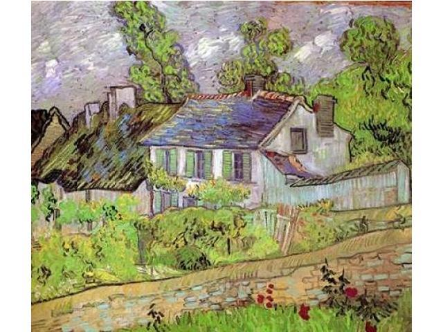 House In Auvers Poster Print by Vincent Van Gogh (24 x 24)