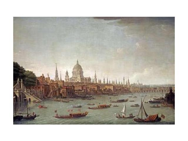 A Panoramic View of The City of London Poster Print by  Antonio Joli  (12 x 18)