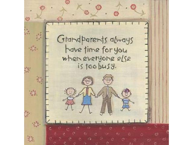 Grandparents Poster Print by Karen Tribbet (24 x 24)