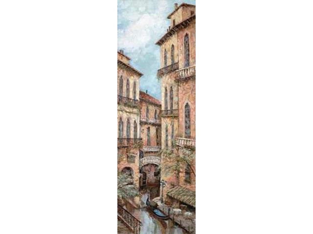 Holiday in Venice II Poster Print by Ruane Manning (12 x 36)