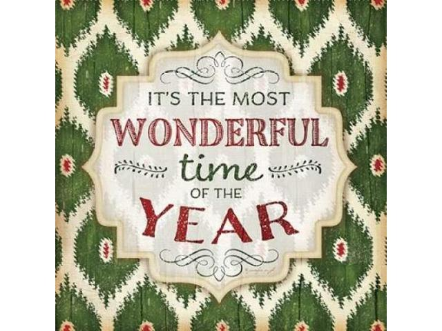 Its the Most Wonderful Time Poster Print by Jennifer Pugh (24 x 24)