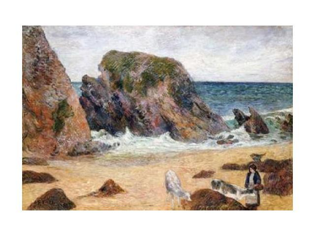 Cows On The Seashore Poster Print by Paul Gauguin (20 x 28)