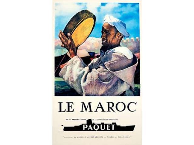 Le Maroc / Navigation Paquet Poster Print by Unknown  (12 x 18)