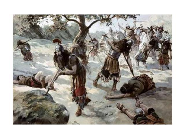 Saul Falls Upon His Sword Poster Print by James Jacques Tissot (20 x 28)