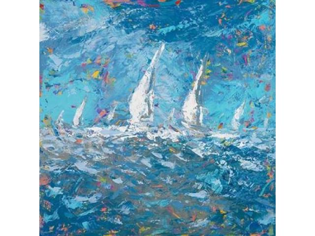 Sailing I Poster Print by  Kingsley (24 x 24)