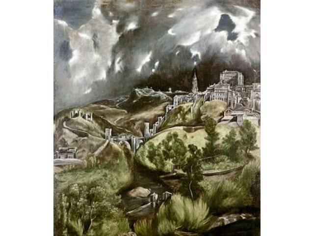 View of Toledo Poster Print by El Greco  (12 x 12)