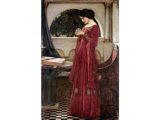 The Crystal Ball Poster Print by  John William Waterhouse  (12 x 18)