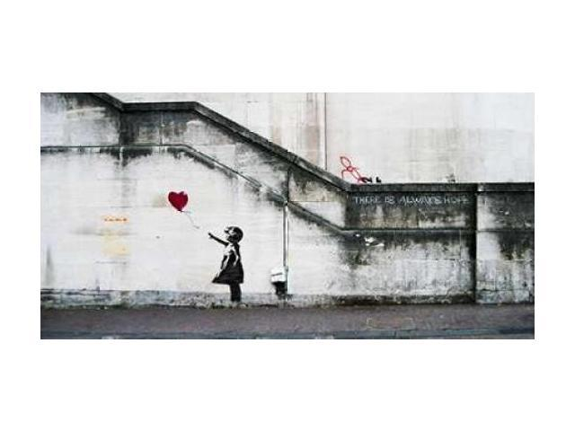 South Bank London-graffiti attributed to Banksy Poster Print by  Anonymous (10 x 20)