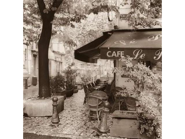 Cafe Aix-en-Provence Poster Print by Alan Blaustein (24 x 24)