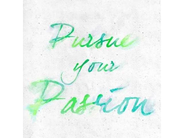 Pursue your Passion Border Poster Print by  Sundance Studio (12 x 12)