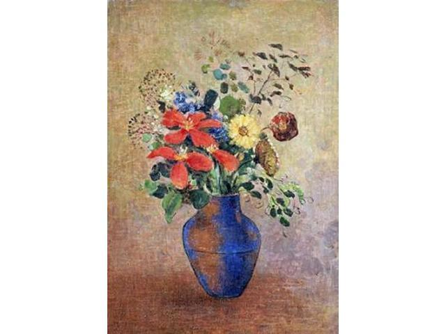 The Blue Vase Poster Print by Odilion Redon (20 x 28)