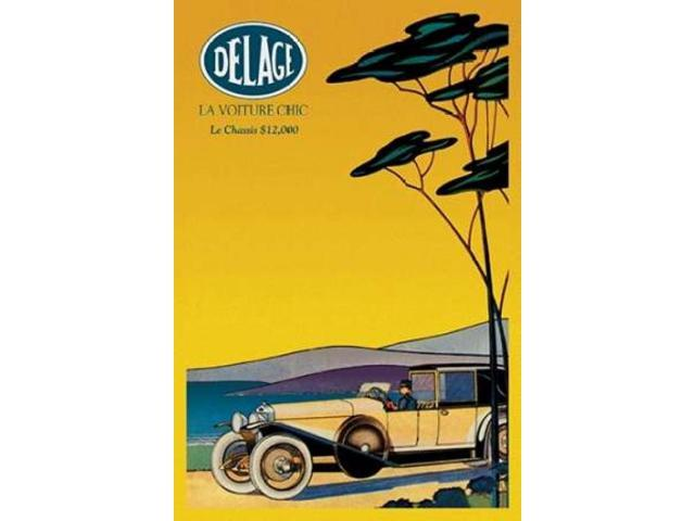 Delage - Out for a Drive Poster Print by  Unknown (24 x 36)